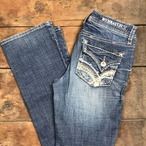 Hydraulic Thick Stitched Bootcut Jeans
